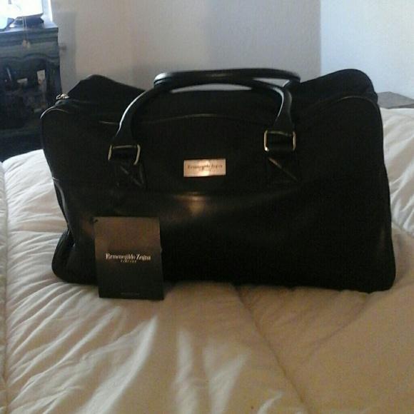 a550fae2 Ermenegildo Zegna Men's Weekender Black Bag NWT
